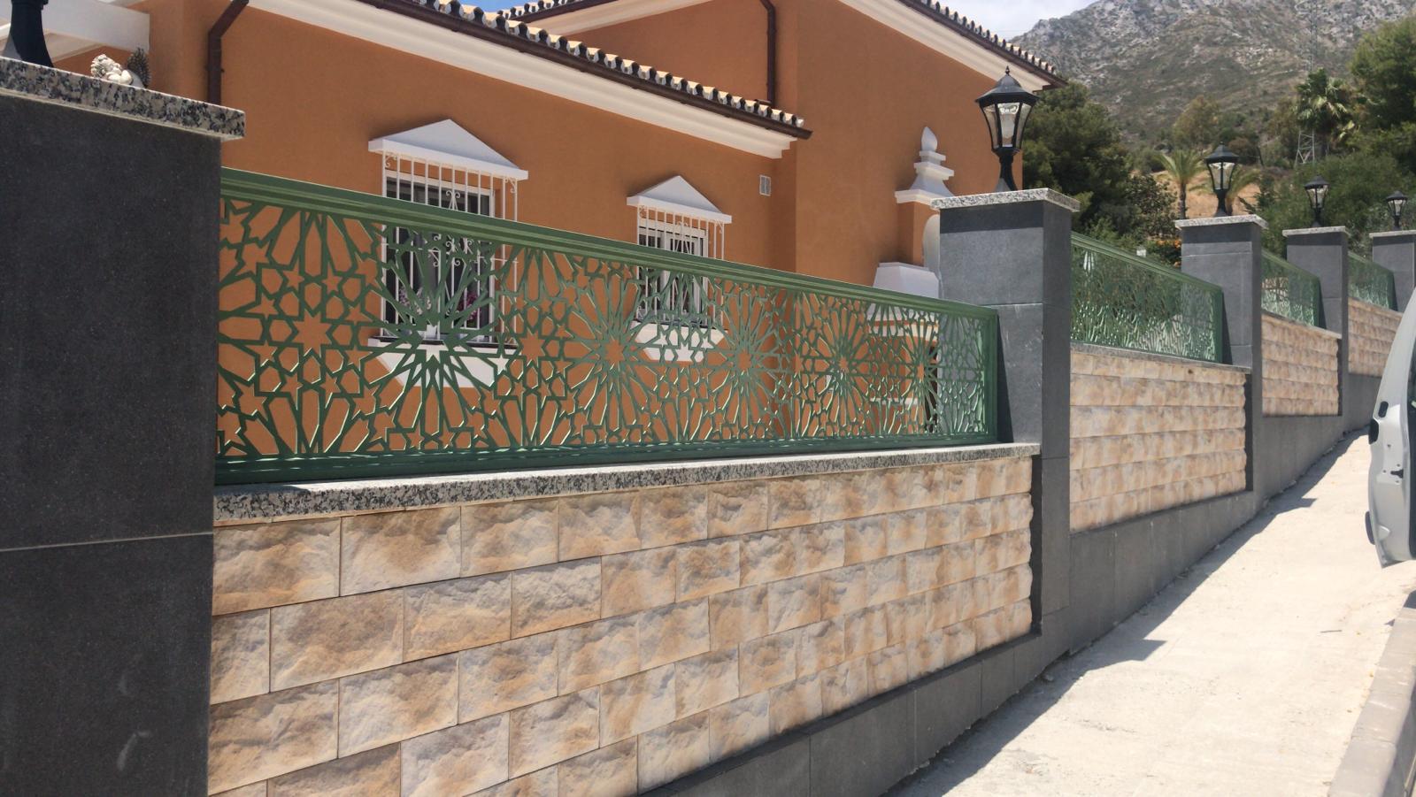 Celosías fabricadas en hierro o acero en Marbella