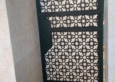 Celosias en pvc talladas y caladas en Málaga